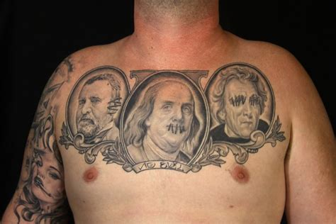 presidents with tattoos portrait realistic chest president by secret sidewalk