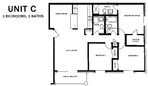 2 bed 2 bath floor plans 3 bedroom 2 bath floor plans bedroom at estate