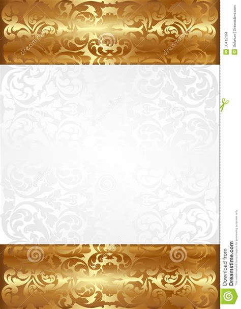 Gold And White L by Photo Collection White And Gold Background