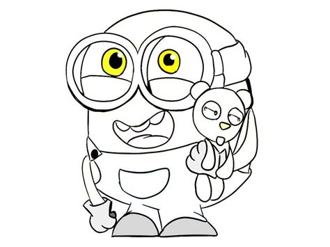 minion coloring minions coloring pages bob coloring home