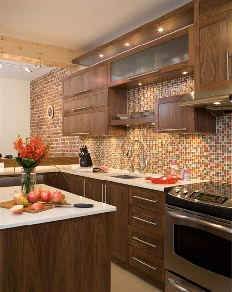 armoires contemporaines design armoires de cuisine contemporaines en noyer qu 233 bec