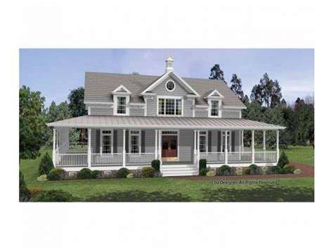 Colonial House Plans With Porches by Colonial House Plans With Wrap Around Porches Country