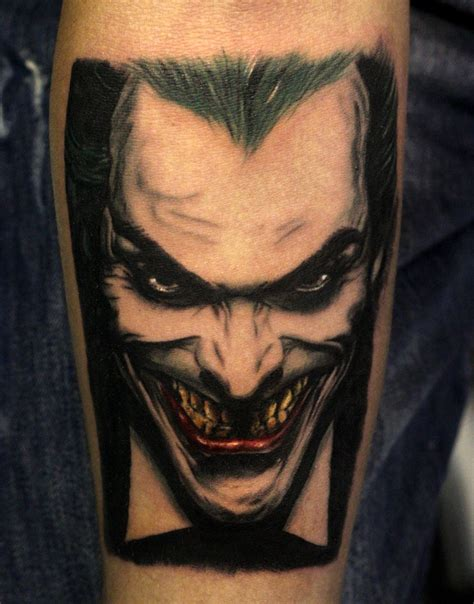 ross tattoos the joker original design by alex ross 1394561247