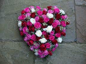 Funeral Flower Arrangements Funeral Flower Hearts Florist Bespoke Floral Designs March Wisbech Cambs