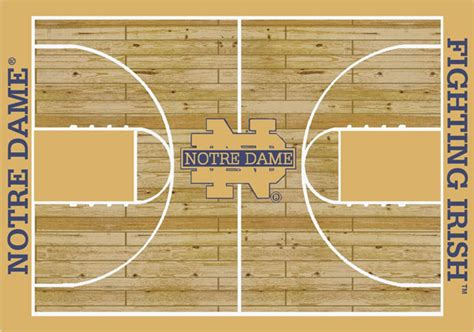 Notre Dame Area Rug Notre Dame Fighting Home Court Area Rug