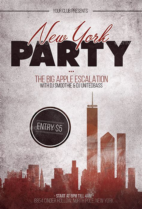 york party flyer template  flyermarket graphicriver