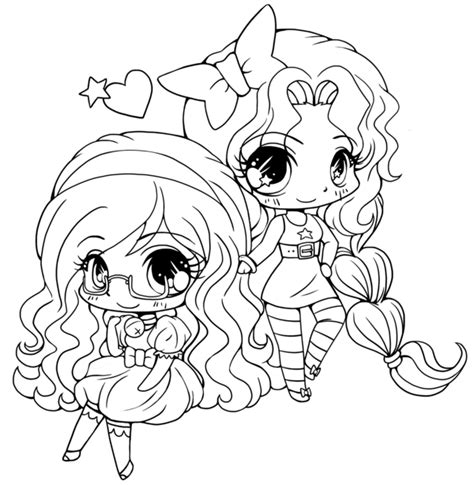 Free Chibi Funny Girl Coloring Pages Chibi Coloring Pages
