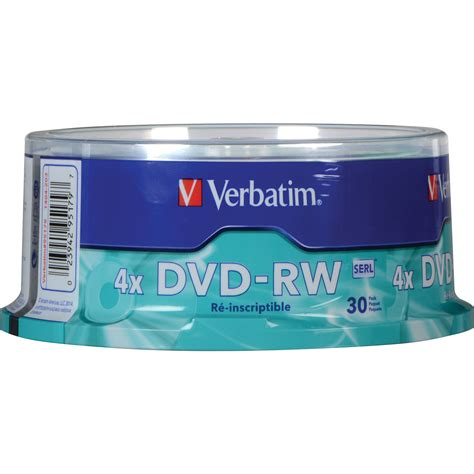 Dijamin Dvd Rw 4x 4 7 Gb Verbatim Single Pack verbatim dvd rw 4 7gb 4x recordable disc 95179 b h photo