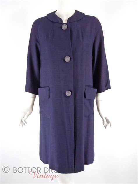 navy blue swing coat vintage 1960s swing coat navy blue duster or topper sm