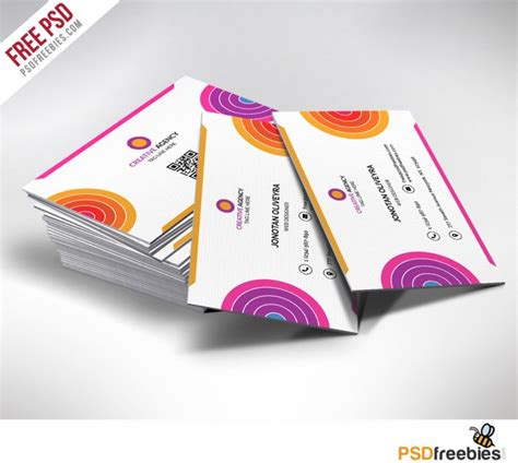 media business card psd template creative and colorful business card free psd