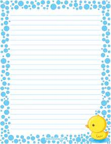 printable duck stationery