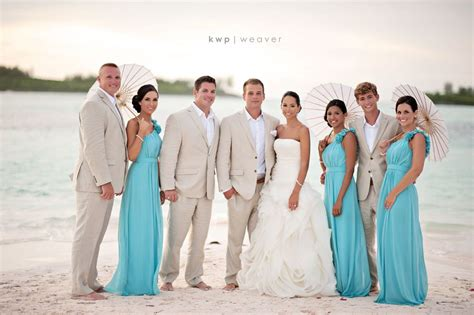 beach wedding bridal party colors are perfect aqua