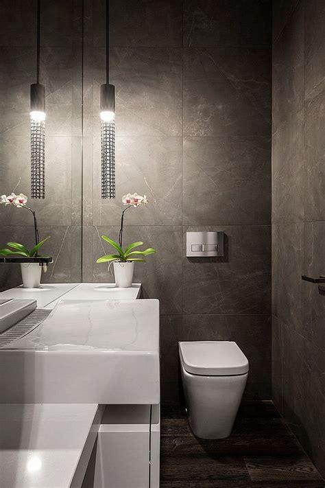 badezimmer 3m2 white glossy powder room powder room tile designs wooden