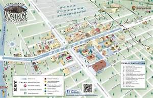 map of montrose colorado montrose downtown development authority co visitor s