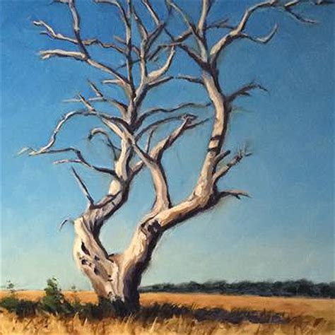 acrylic painting of trees dead standing tree acrylic painting lesson canvas ii