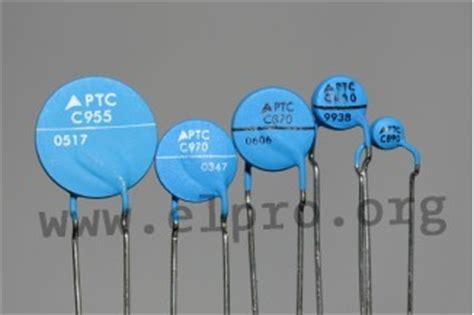 ptc thermistors for overcurrent protection elpro elektronik