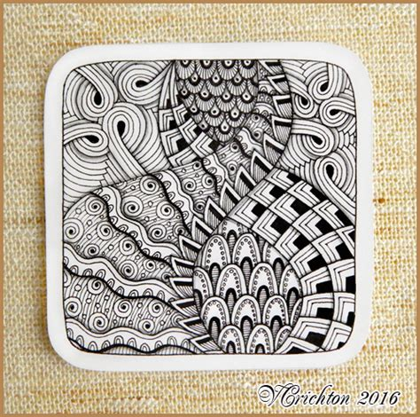 zentangle tiles 9x9 cm zentangle pattern tangle drawing