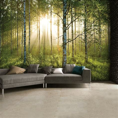 1wall tree wallpaper mural wall murals home ideas