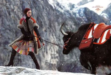 Models Booked For Fall 2008 Ad Caigns by Snowy Mountain Fashion Ads Hermes Fall Winter 08 09