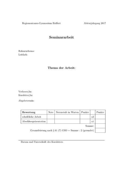 layout seminararbeit bayern deckblatt w seminararbeit anschreiben 2018