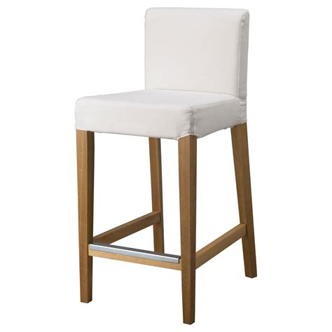 Bar Stool With Backrest Henriksdal Bar Stool With Backrest Frame Oak 74 Cm Ikea