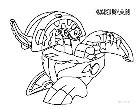 printable color sheets printable bakugan coloring pages for cool2bkids