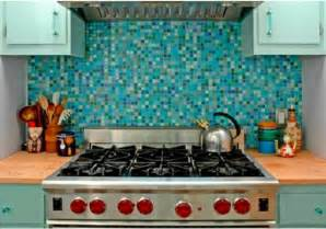 Mosaic Tile For Kitchen Backsplash Turquoise Mosaic Backsplash Tiles Decozilla