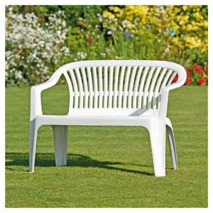 plastic garden bench white images frompo