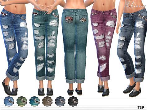 sims 4 cc boyfriend jeans ekinege s ripped boyfriend jeans
