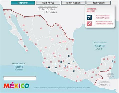 map mexico airports map of airports in mexico mexico map