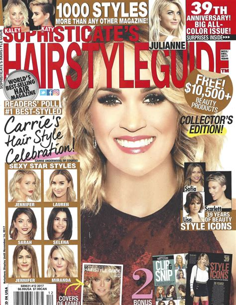 cover of short hair style guide magazine sophisticate s hairstyle guide magazine nov 2017 chi