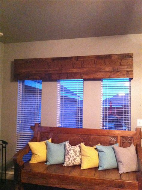 Rustic Cornice Board Distressed Wood Cornice Board 130 Diy Project By The