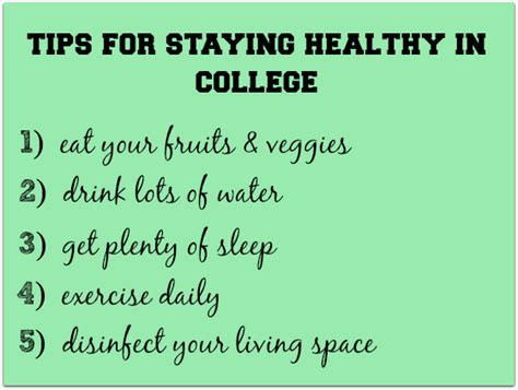 all about everything health tips for college students