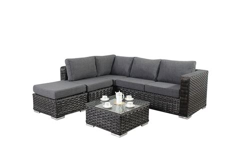 small rattan corner sofa small 4 seater rattan corner sofa set in platinum black 163