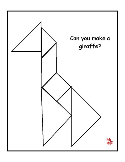 tangrams template learning printables for