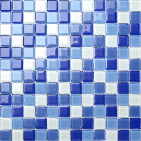 blue border tiles for bathrooms blue white glass mosaic tiles bathroom bath splashback