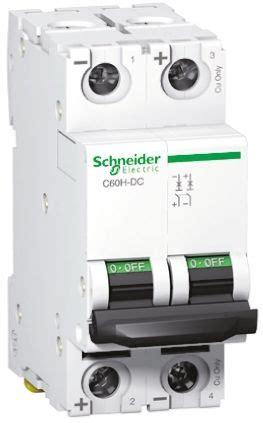 Mcb Schneider 10a 2p Domae Sni a9n61526 acti 9 c60h dc mcb 2p 6 a curve c schneider