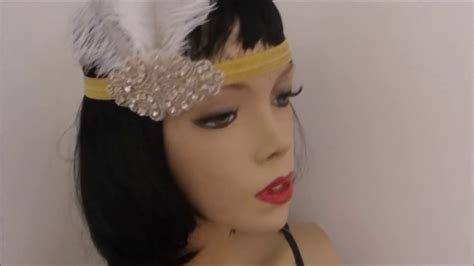 how to make a 1920s hairpiece diy gatsby headband tutorial how to make a 1920s flapper