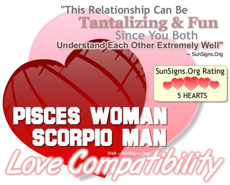 pisces woman and scorpio man a tantalizing and fun match