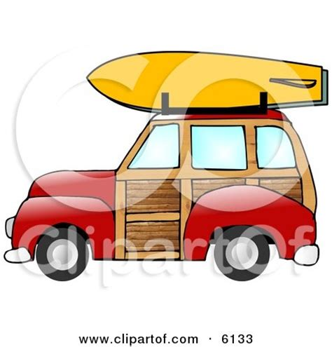 surf car clipart woody car drawing images