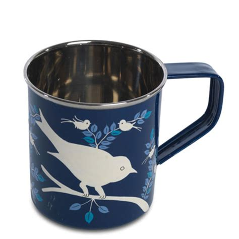 Special Produk Mug Blirik 9cm nkuku painted mug navy 8cm diameter x 9cm h