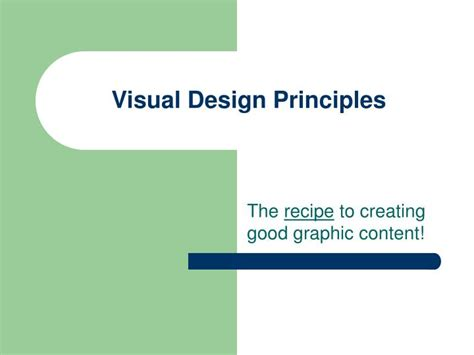 graphic design principles for powerpoint ppt visual design principles powerpoint presentation