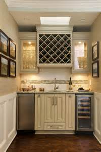 Elegant mini kegerator in home bar traditional with butler pantry next