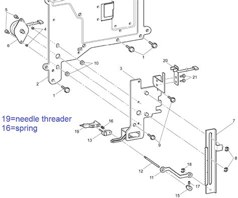Spring For Needle Threader For Brother Baby Lock Multi