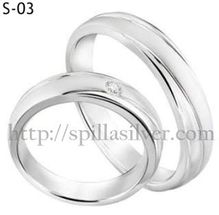Fx Wedding Ring Silver Cincin Nikah 18 K Cincin 3 cincin pasangan s 03 cincin tunangan cantik