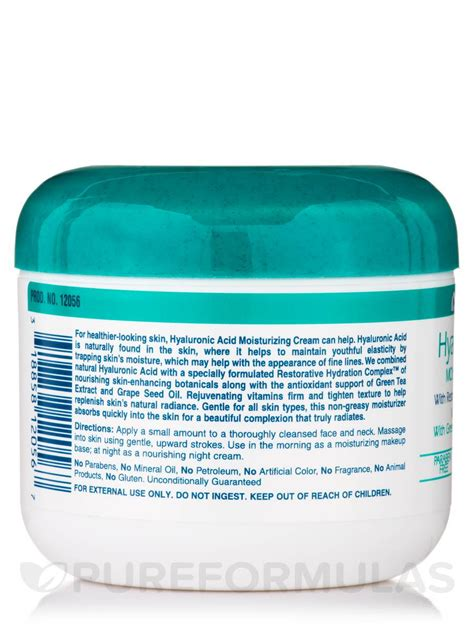 hyaluronic acid moisturizing 4 oz 113 grams