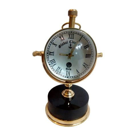 desk clock black marble base brass vintage desk clock antikcart