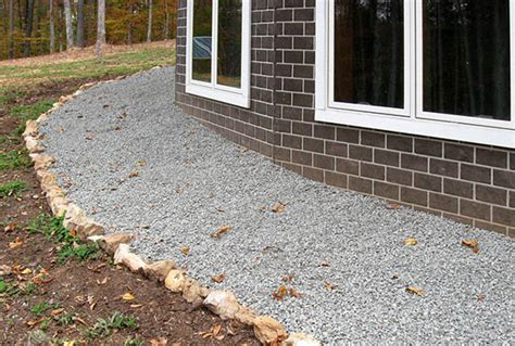 Gravel Around House 28 Images How To Install A Drainage System Around The