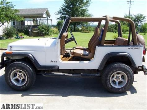 White Jeep Wrangler For Sale Armslist For Sale 1995 Jeep Wrangler White 4x4