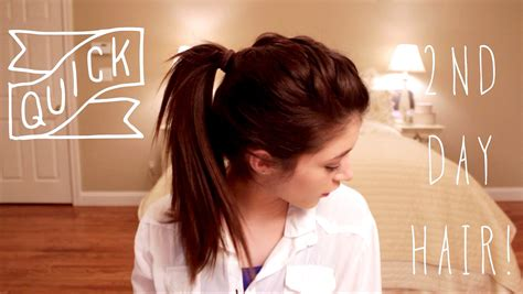 cute hairstyles second day hair quick second day hairstyles youtube